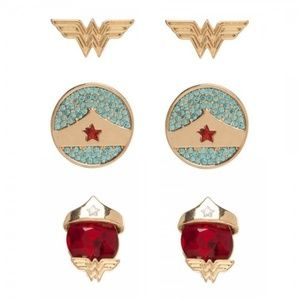 DC Comics Classic Wonder Woman Set of 3 Earrings